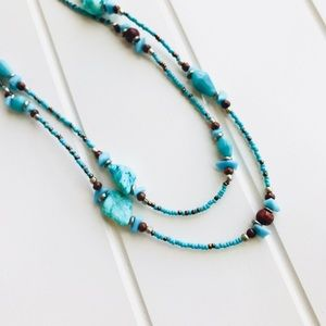 Jewelry - 🎉2XHP🎉Boho Multi Stone and Beaded Necklace.